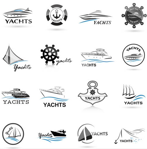 Logotypes with Yachts vectors graphics