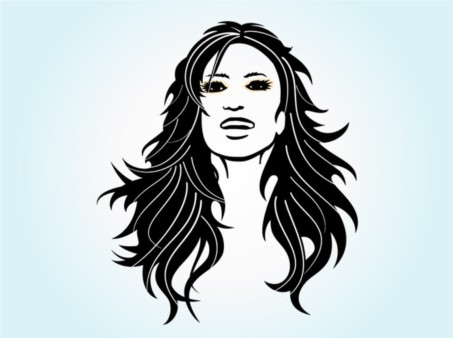Long Haired Girl vectors