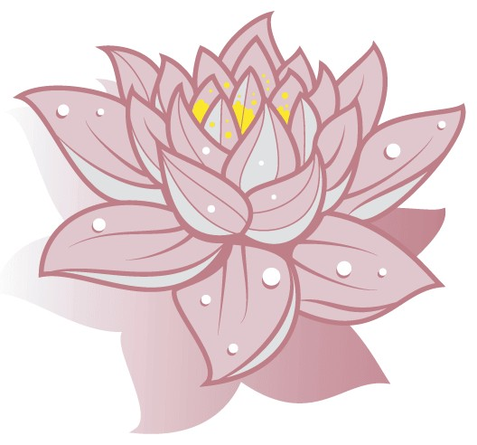 Lotus Flower Art Free shiny vector
