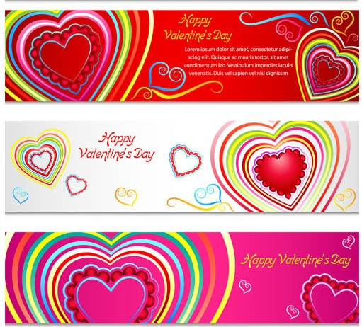 Love Banners Set 2 vector