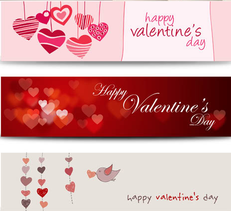 Love Banners Set vector