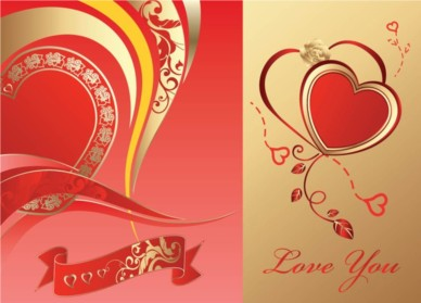 Love Card background vectors