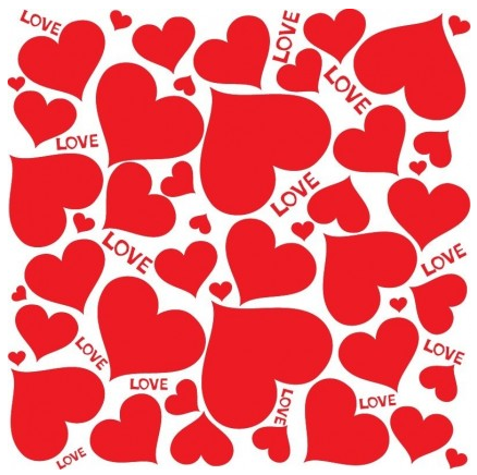 Love Hearts Background Illustration vector