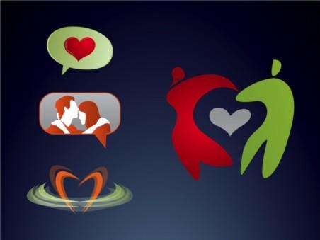 Love Logos vectors material
