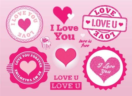 Love Stamps Vectors