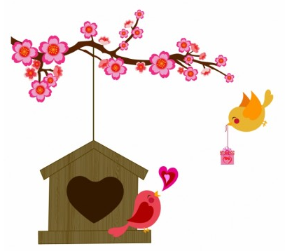 Love bird free vector