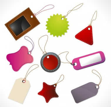 Lovely label and tags vectors