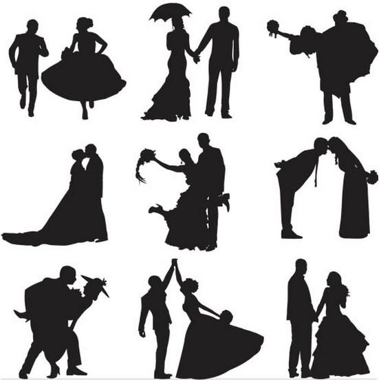 Loving couples Set vector design