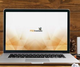 MacBook Pro Front View Mockup PSD Material