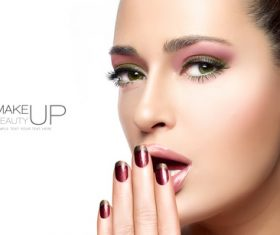 Make a heavy make-up model Stock Photo