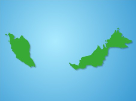 Malaysi Map design vector