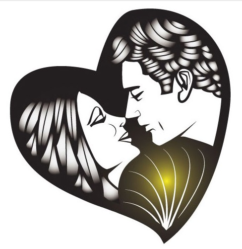 Man And Woman Kissing Image Free vector material