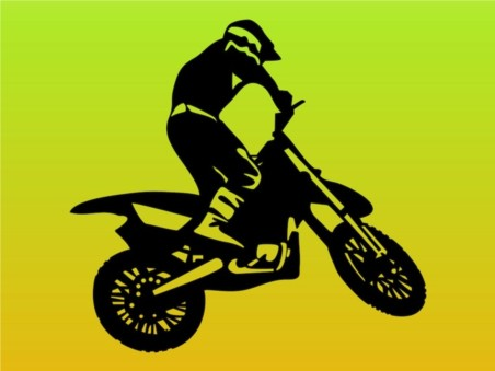 Man On Motorbike vector