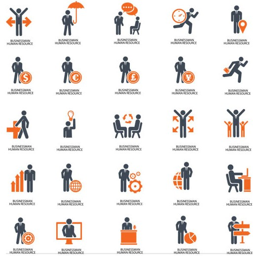 Management Icons graphic vector