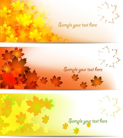 Maple Leaf banner vector graphics