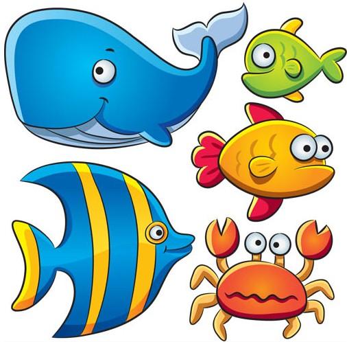 Marine Animals free vector