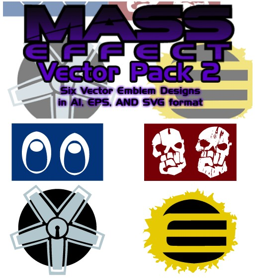 Mass Effect Free Illustrator Vector Pack 2 shiny