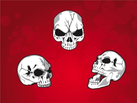 Mean Skulls vector graphics