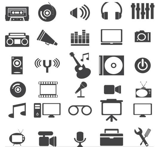 Medi Grey Icons vector