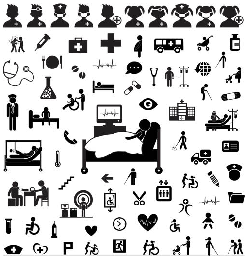 Medical Icons free vector material