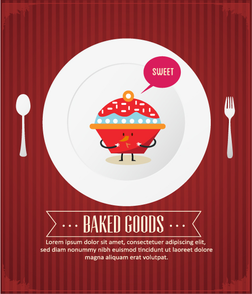Menu background 18 vector