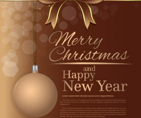 Merry Christmas and Happy New Year brown vector 02
