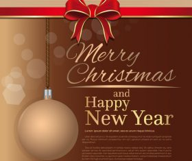 Merry Christmas and Happy New Year brown vector 03