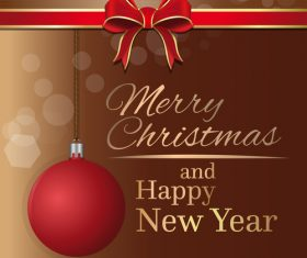 Merry Christmas and Happy New Year brown vector 05