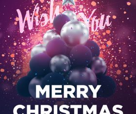 Merry christmas gold party flyer with poster template vector 11
