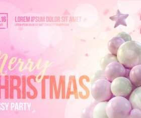 Merry christmas gold party flyer with poster template vector 13