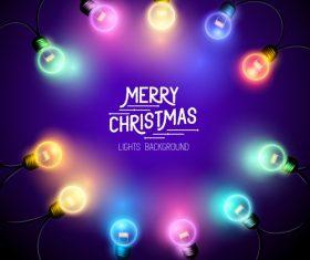 Merry christmas lishts backgrounds vector graphics 01