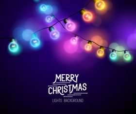 Merry christmas lishts backgrounds vector graphics 04