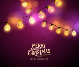 Merry christmas lishts backgrounds vector graphics 05