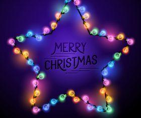 Merry christmas lishts backgrounds vector graphics 06