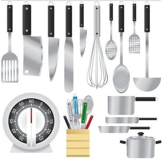 Metal Kitchen Appliances Vector creative vector