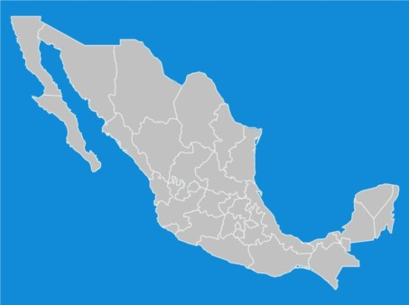 Mexico States Map vector