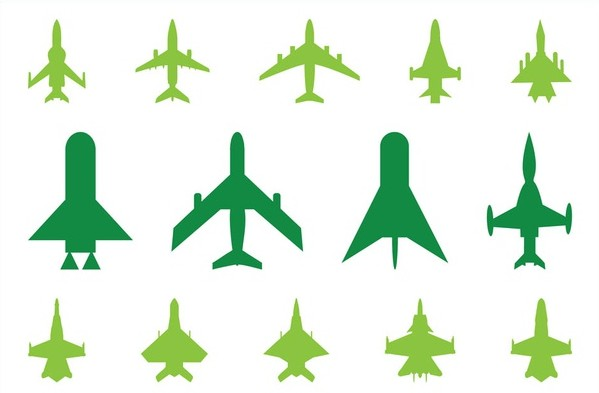 Military Planes Icons vector
