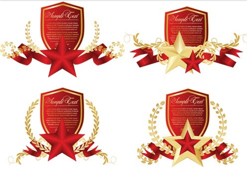 Military Style Labels vector