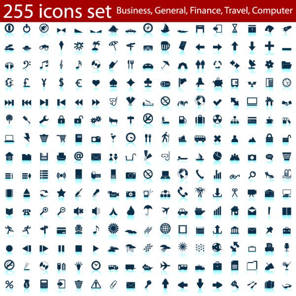 Mini Social Icons set vector