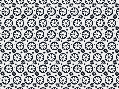 Minimal Floral Pattern vector