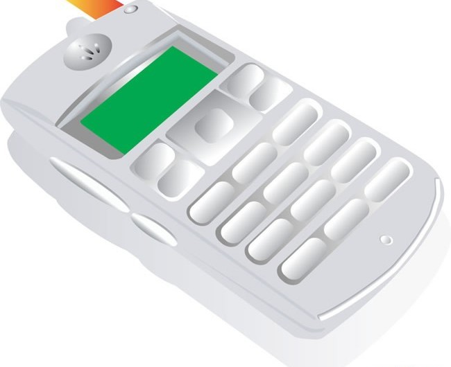 Mobile phone vectors
