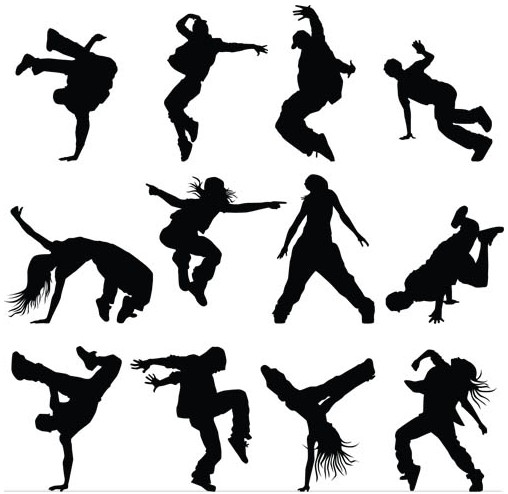 Modern Dancers free vectors