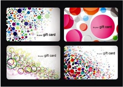 Modern Gift Card Templates Set creative vector