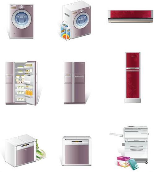 Modern Home Equipment vector