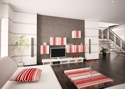 Modern loft with and living room Stock Photo 03