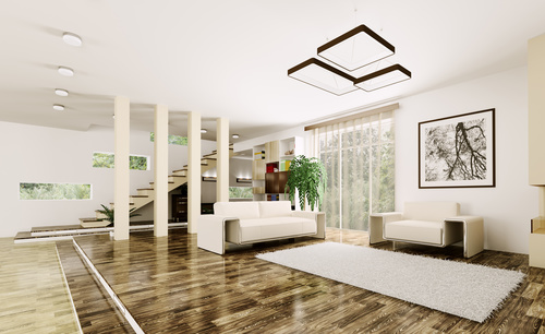 Modern loft with and living room Stock Photo 07