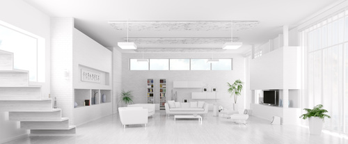 Modern loft with and living room Stock Photo 11