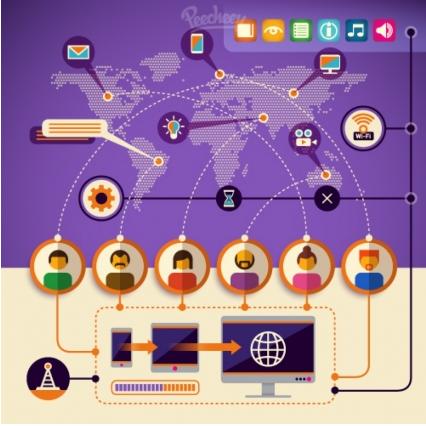 Modern technology Illustration vector