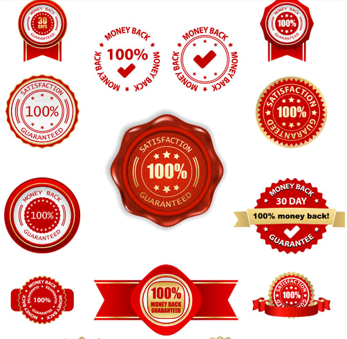 Money Back Labels Set vector