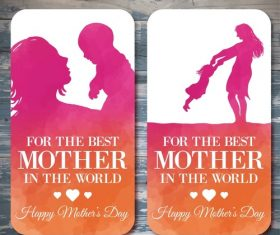 Mothers Day poster Thanksgiving Card Vector